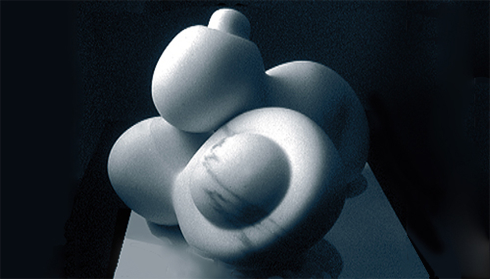 "Sculpture  Beads, the Next Generation, 2003-04.  Yule marble.  21"" x 20"" x 14"""